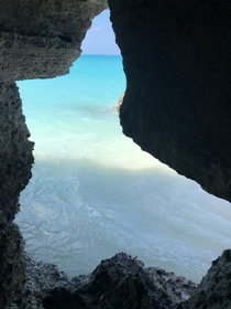 Cave in the Bahamas