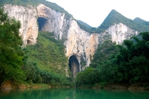 Caves in the Getu Valley Ziyun China