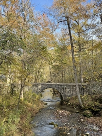 Ccc doesnt get enough love here a bridge over Blanchard spring in Arkansas they built during the Great Depression