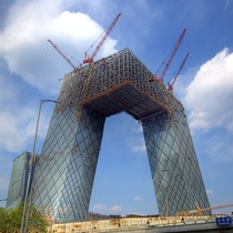 CCTV Headquarters under construction Beijing April  Still amazed that they managed to make a building like this very unique very impressive