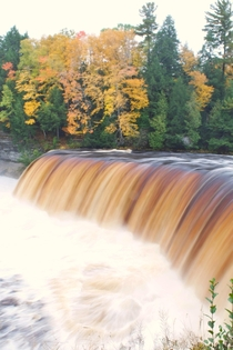 Cedar-stained water of Tahquamenon Falls MI