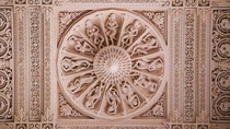 Ceiling of Akshardham temple New Delhi