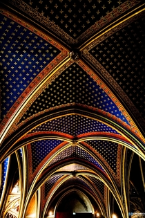 Ceiling of Sainte Chapelle Paris