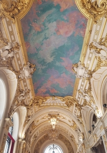 Ceiling of the Opra theatre in Lille France