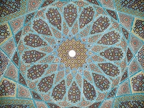 Ceiling of the Tomb of Hafez in Shiraz Iran  CE