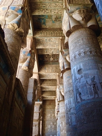 Ceilings Columns Walls at Temple of Hathor Dendera