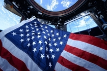 Celebrating Flag Day on June   NASA astronaut Scott Kelly took this photograph in the cupola of the International Space Station