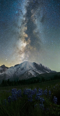 Celestial Eruption Mt Rainier Washington State