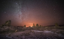 Celestial View The Trona Pinnacles in the California Mojave Desert just outside Death Valley