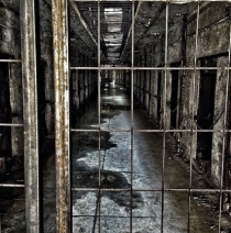 Cell Block at Eastern State Penitentiary  x