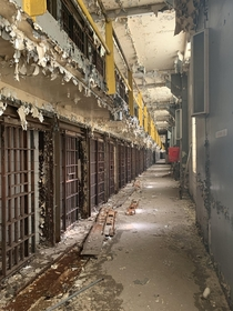 Cell block from Old Joliet Prison Joliet IL USA