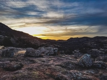 Cell phone photo because everyone starts somewhere - Sunset in the Wichita Mountains Wildlife Refuge in Oklahoma