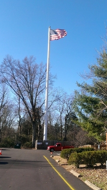 Cellphone tower disguised as a flagpole Louisville Ky