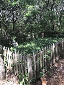 Cemetery on island in NC