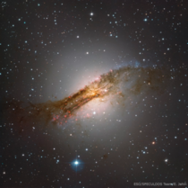 Centaurus A the fifth brightest galaxy in the sky