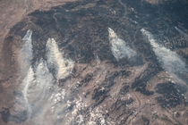 Central Idaho wildfires as seen from the International Space Station on August th  x