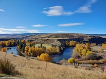 Central Washington has some beautiful views Bank of the Yakima River near Thorp WA