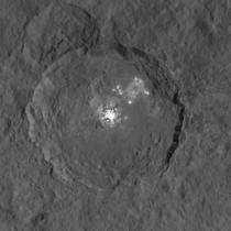 Ceres Bright Spots Seen in Striking New Detail Image taken by NASAs Dawn spacecraft shows Occator crater on Ceres