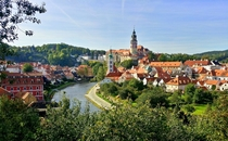 Cesky Krumlov Czech Republic A small fairy tale village three hours outside of Prague