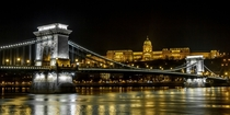 Chain Bridge and Buda Castle in Beautiful Budapest