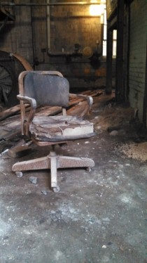 Chair from an dilapidated Bourbon storage building in Lexington KY