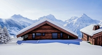 chalet in the french alp  building with blenderampunreal