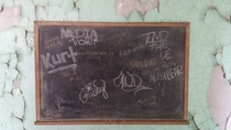 Chalk board at the asylum Athens Ohio