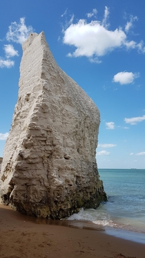 Chalk formation in Botany Bay Kent