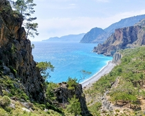 Challenging hike toward Sougia on the southern coast of Crete