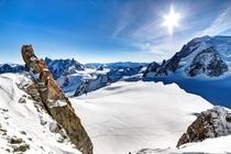 Chamonix France from Aiguille du Midi next to Mont Blanc  photo by Pierre Pichot