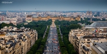 Champs Elyses and the Louvre Paris