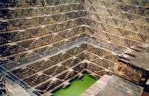 Chand Baori a stepwell constructed from - AD in Abhaneri India