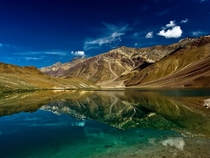 Chandra Tal or Lake of the Moon in Himachal Pradesh India Photo by Dhurjati Chatterjee