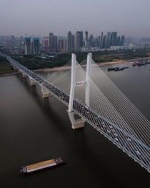 Changjiang River Bridge in Wuhan China