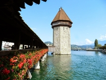 Chapel bridge in Lucerne Switzerland