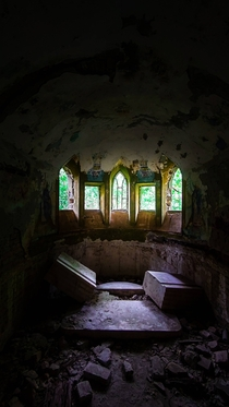 Chapel in the Baba Pusta an abandoned chateau built in  in what is today Vojvodina