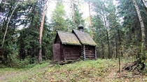 Chapel in the forest Russia