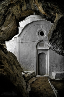Chapel inside a cave - Samos Greece