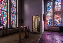 Chapel of an abandoned retirement home Belgium