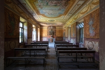 Chapel of deserted orphan asylum in Italy