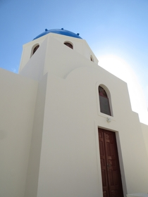 Chapel on island of Santorini Greece