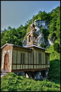 Chapel over a stream Ojcw Poland