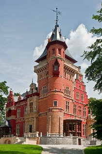 Charle-Albert Chateau - Watermael-Boitsfort Belgium - Built in an eclectic style by architect-decorator Albert Charle in the late th century - RebuiltRestored