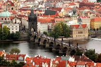 Charles Bridge in Prague Czech Republic