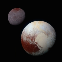 Charon and Pluto Strikingly Different Worlds