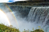 Chasing waterfalls or double rainbows Dettifoss Iceland