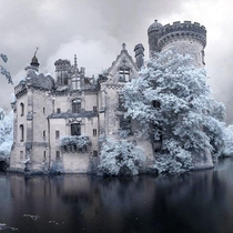 Chateau de la Mothe-Chandeniers in the Vienne dpartement of France abandoned due to fire in