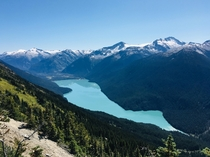 Cheakamus Lake  seen from the High Note Trail Whistler BC