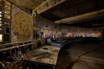 Chernobyl Nuclear Power Plant control room