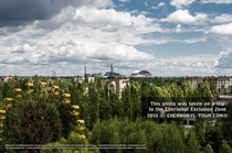 Chernobyl with new Reactor Confinement building under construction for make benefit existing population